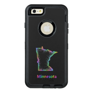 Rainbow Minnesota map OtterBox iPhone 6/6s Plus Case