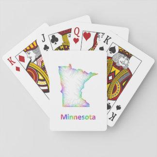 Rainbow Minnesota map Poker Deck