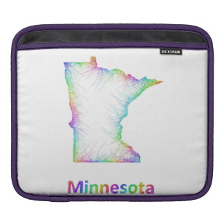 Rainbow Minnesota map Sleeves For iPads