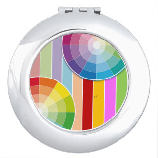 Rainbow Mirror Compact Mirror For Makeup