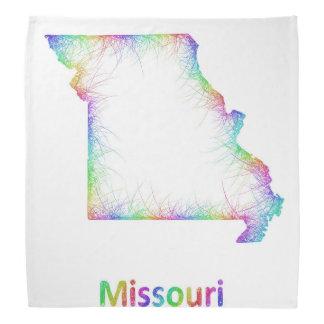 Rainbow Missouri map Bandanas