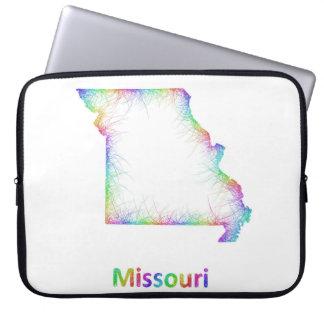 Rainbow Missouri map Computer Sleeve