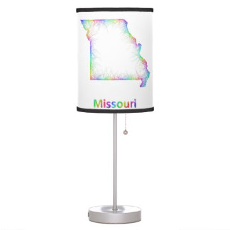 Rainbow Missouri map Desk Lamp
