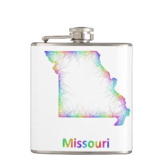 Rainbow Missouri map Flask