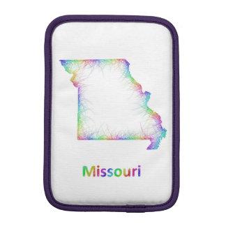 Rainbow Missouri map iPad Mini Sleeves