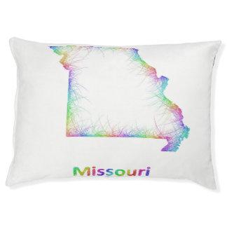 Rainbow Missouri map Large Dog Bed