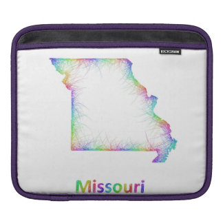 Rainbow Missouri map Sleeves For iPads