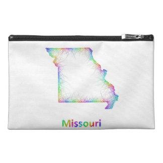 Rainbow Missouri map Travel Accessory Bags
