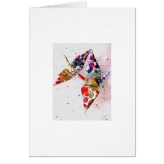 rainbow molecule peace cranes card