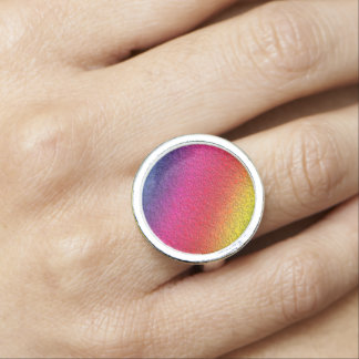 Rainbow Molten Glass Splash Effect Ring