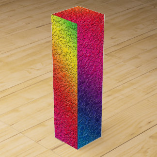 Rainbow Molten Glass Splash Effect Wine Box