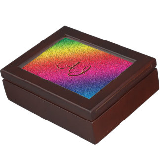Rainbow Molten Glass Splatter Effect Keepsake Box