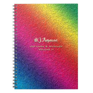 Rainbow Molten Glass Splatter Effect Notebook