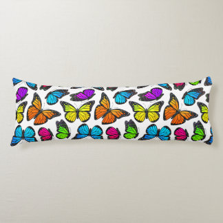 Rainbow Monarch Butterfly Pattern Body Pillow