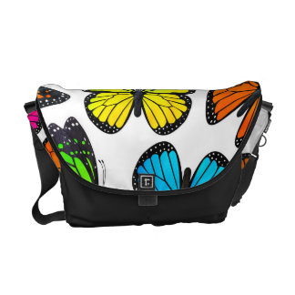 Rainbow Monarch Butterfly Pattern Commuter Bags