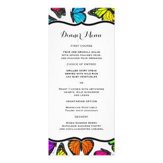 Rainbow Monarch Butterfly Slim Dinner Menu