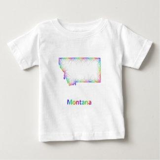 Rainbow Montana map Baby T-Shirt