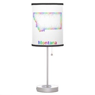 Rainbow Montana map Desk Lamp