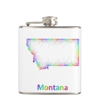 Rainbow Montana map Flasks
