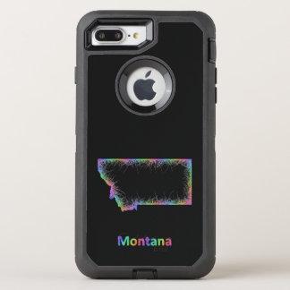 Rainbow Montana map OtterBox Defender iPhone 8 Plus/7 Plus Case