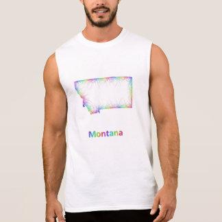 Rainbow Montana map Sleeveless Shirt