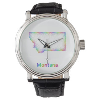 Rainbow Montana map Watches