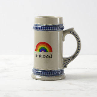 Rainbow mood beer stein