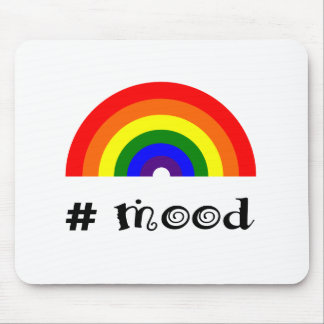 Rainbow mood mouse pad