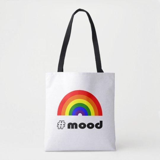 Rainbow mood tote bag