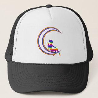 Rainbow Moon Pixie Trucker Hat