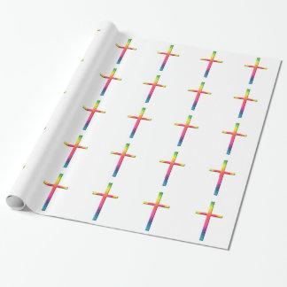 Rainbow Mosaic Cross