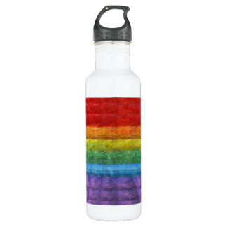 Rainbow Mosaic Gay Pride Flag 710 Ml Water Bottle