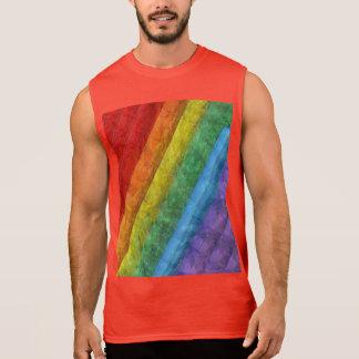 Rainbow Mosaic Gay Pride Flag Sleeveless Shirt