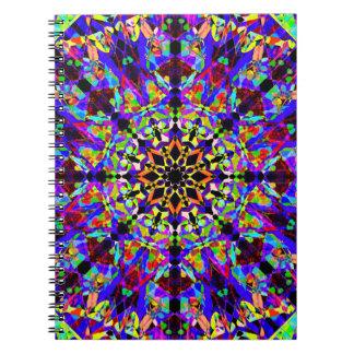Rainbow Mosaic Mandala Notebook