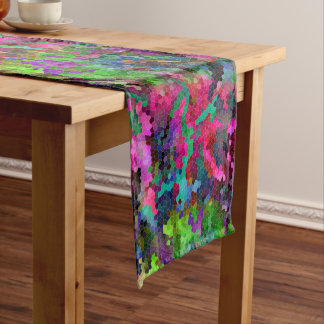 [Rainbow Mosaic] Stained-Glass Effect Short Table Runner