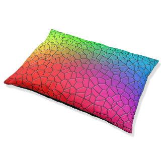 Rainbow Mosiac Pet Bed