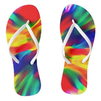 Rainbow Motif Shoes Flip Flops