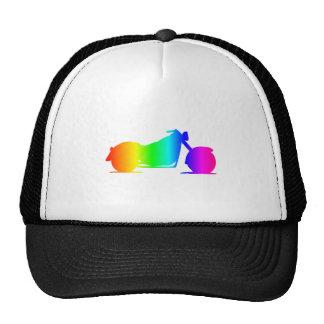 Rainbow Motorcycle #4 Trucker Hat