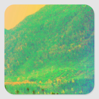 Rainbow Mountains and Trees Canada Sticker