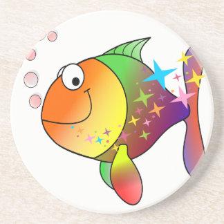 Rainbow multi color pacific ocean tuna coaster
