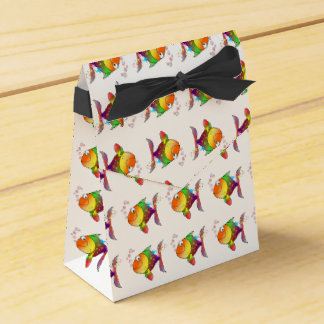 Rainbow multi color pacific ocean tuna fish favor box