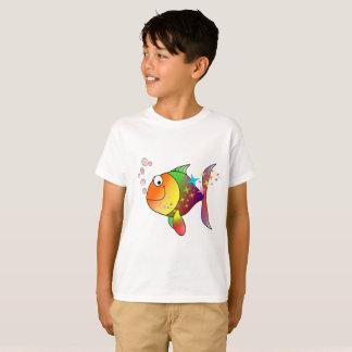 Rainbow multi color pacific ocean tuna fish T-Shirt