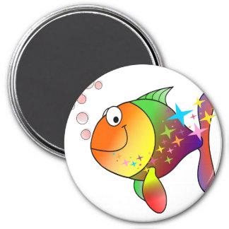 Rainbow multi color pacific ocean tuna magnet