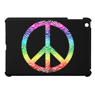 Rainbow multi color peace symbol iPad mini covers