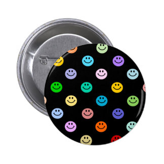 Rainbow Multicolor Smiley Face Pattern Pin
