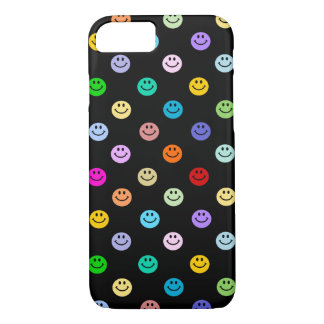 Rainbow Multicolor Smiley Face Pattern iPhone 8/7 Case