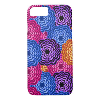 Rainbow Multicolored Dahlia Floral Abstract iPhone 8/7 Case