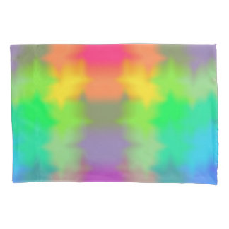 Rainbow Multicolored Watercolor Abstract Tie Dye Pillowcase