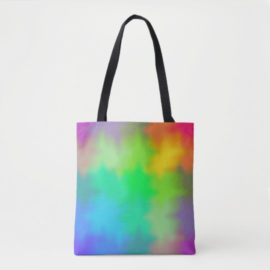 Rainbow Multicolored Watercolor Abstract Tie Dye Tote Bag