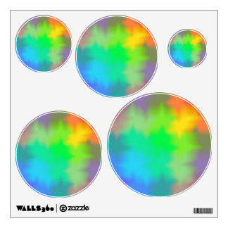 Rainbow Multicolored Watercolor Abstract Tie Dye Wall Decal